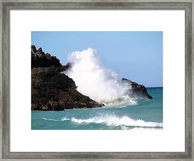 Kona Wave Framed Print by Athala Carole Bruckner