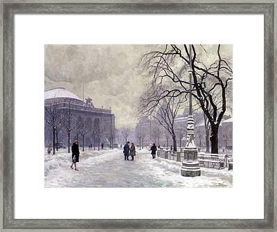 Kongens Nytorv Copenhagen Framed Print by Paul Gustav Fischer