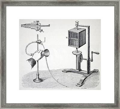 Konig's Flame Manometer Framed Print by Universal History Archive/uig