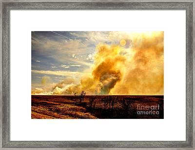 Konza Prairie Burn Framed Print