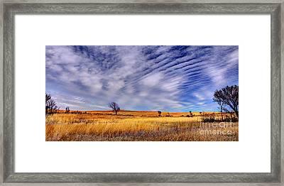 Konza Prairie Pano Framed Print