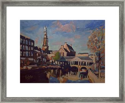 Koorn Bridge Leiden Framed Print by Nop Briex