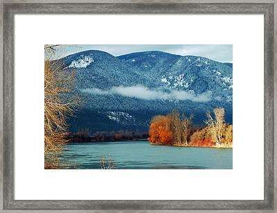 Kootenai River Framed Print by Annie Pflueger