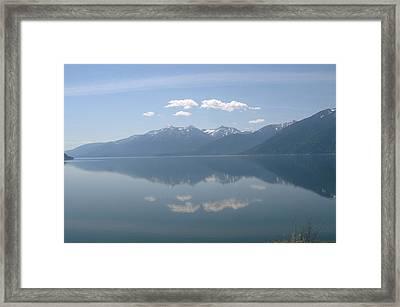 Kootenay Lake Mirror Framed Print by Mavis Reid Nugent