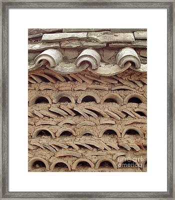 Korea Folk Architecture - Curved Tiles Framed Print