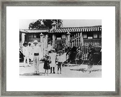 Korea Tourists, 1920 Framed Print by Granger