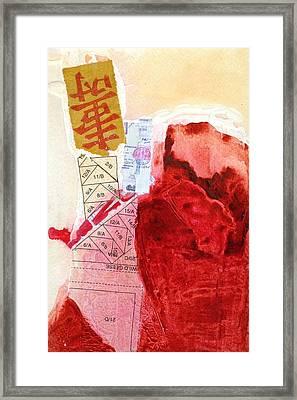 Korean Collage 4 Framed Print