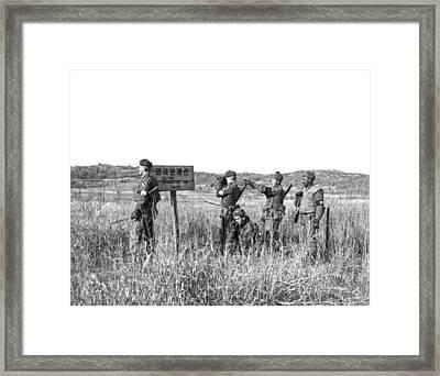 Korean Demarcation Line Framed Print by Underwood Archives