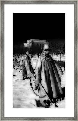 Korean Memorial Framed Print by Skip Willits