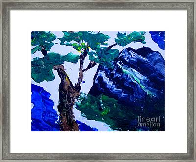 Korean Mountain Framed Print by Jayne Kerr