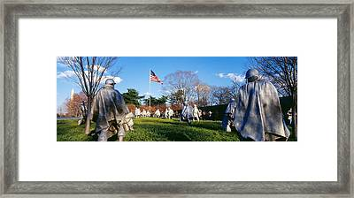 Korean Veterans Memorial Washington Dc Framed Print by Panoramic Images