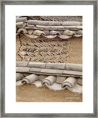 Korean Village Photograph - Mud Wall Framed Print