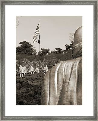 Korean War Memorial  2 - Washington D.c. Framed Print by Mike McGlothlen
