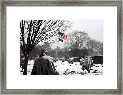Korean War Memorial Framed Print