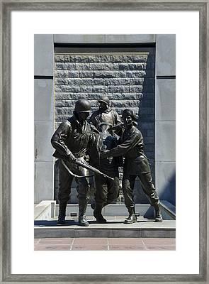 Korean War Memorial Atlantic City Nj Framed Print by Bill Cannon