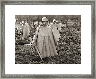 Korean War Memorial - Washington D.c. Framed Print by Mike McGlothlen