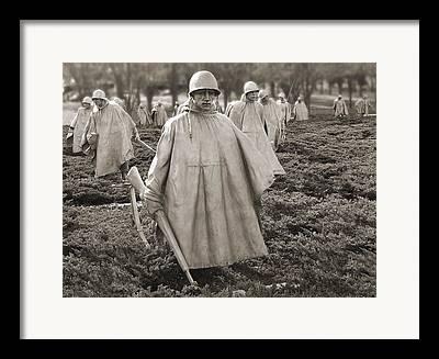 Korean War Memorial Framed Prints