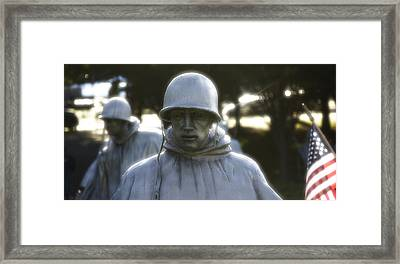 Korean War Soldier 2 Framed Print by Nicola Nobile