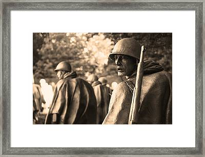 Korean War Soldier Framed Print by Nicola Nobile