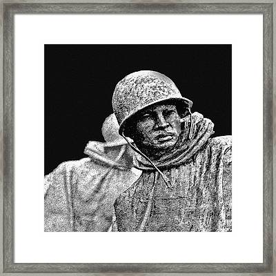 Korean War Veterans Memorial Framed Print by Bob and Nadine Johnston