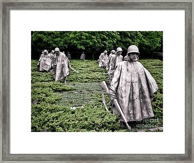Korean War Veterans Memorial Framed Print by Olivier Le Queinec