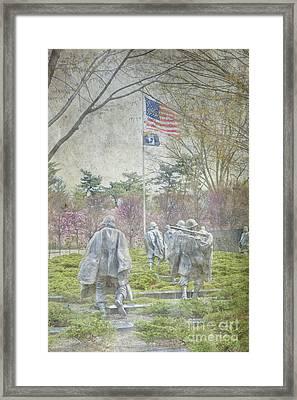 Korean War Veterans Memorial Washington Dc Beautiful Unique   Framed Print
