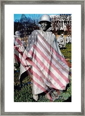 Korean War Veterans Remembered Framed Print by D Hackett