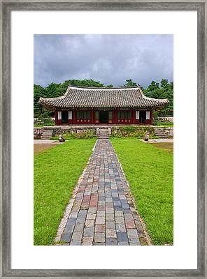 Koryo Museum Songyungwan, Kaesong Framed Print by Michael Runkel