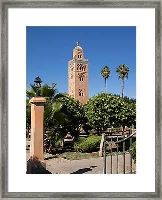Koutoubia Minaret Built By Yacoub El Framed Print