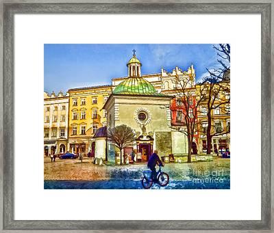 Krakow Main Square Old Town  Framed Print