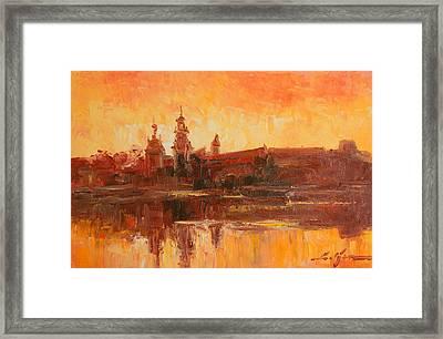 Krakow - Wawel Impression Framed Print
