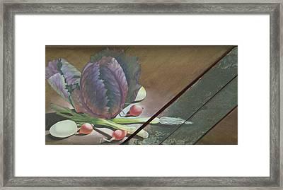 Kraut Cutter Framed Print