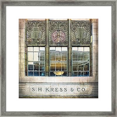 Kress Art Deco Window Framed Print