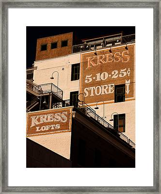 Kress Ghost Signs By Denise Dube Framed Print