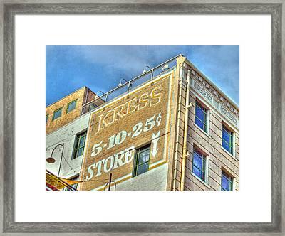 Kressed  Framed Print by Joe Schofield