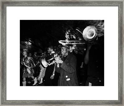 Krewe Du Vieux Parade Brass Band Framed Print