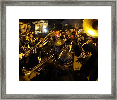 Krewe Du Vieux Parade In New Orleans Framed Print