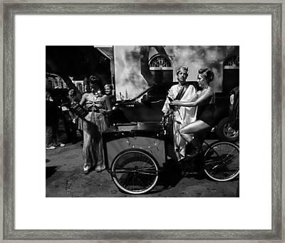Krewe Du Vieux Parade New Orleans Framed Print