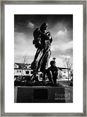 Krigsmodremonument Wartime Mothers Monument Kirkenes Finnmark Norway Europe Framed Print