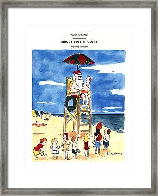 Kringle On The Beach Framed Print by Danny Shanaha