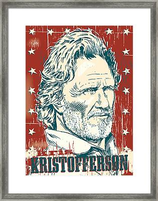 Kris Kristofferson Pop Art Framed Print