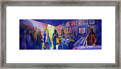 Kris Lager Band At Sanchos Broken Arrow Framed Print