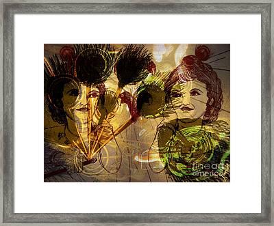 Krishna Abstract Art Framed Print by Artist Nandika  Dutt