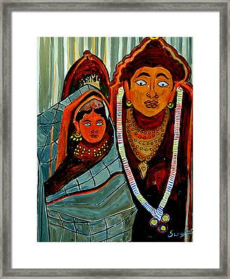 Framed Print featuring the painting Krishna And Radha by Anand Swaroop Manchiraju