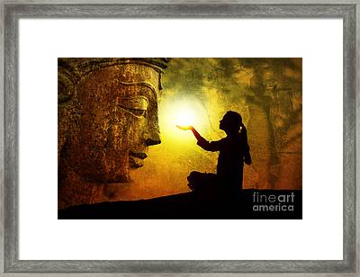 Krishna Devotion Framed Print by Tim Gainey
