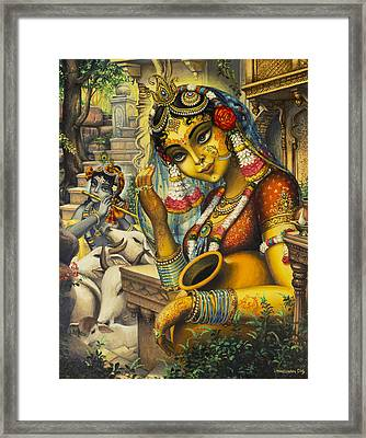 Krishna Is Here Framed Print by Vrindavan Das