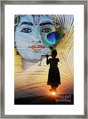 Krishna Jai Framed Print by Tim Gainey