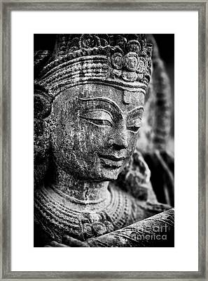 Krishna Monochrome Framed Print by Tim Gainey