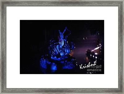 Krishna On Naga Framed Print by Ankit Garg
