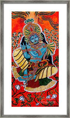 Framed Print featuring the painting Krishna by Saranya Haridasan